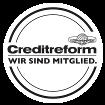 Creditreform Mitgliederlogo, Ihr Spezialist für Bonitätsprüfung, Inkasso, Zahlungsfähigkeit